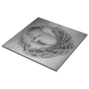 Foto op aluminium geboortekaartje