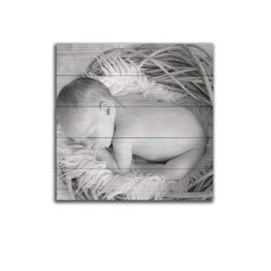 geboortekaartje op hout